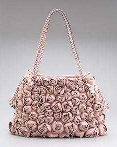 Roses handbag like only Valentino can do them. He is the best with ruffles and roses. LOVE Valentino.