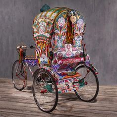 BANGLADESHI RICKSHAW HAND-CRAFTED IN BANGLADESH  OUR FIND: A piece of original street art — a hand-painted rickshaw from the streets of Dhak...