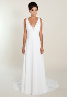 "So many might look at this Grecian style dress and think ""huh, boring"", but I love it. It's probably one of the nicest that I've seen; white, simple, elegant and to some extent, regal. Stunning."