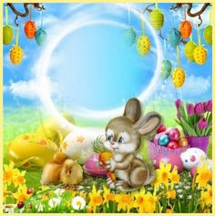 Ostern Easter Wallpaper, Easter Pictures, Frame Background, Sweet Stories, Disney Drawings, Happy Easter, Tinkerbell, Congratulations, Greeting Cards