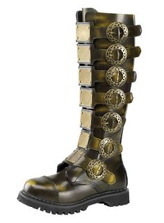 These bronze men's boots are sure to make any outfit go from ordinary to extraordinary and completely steampunked out.