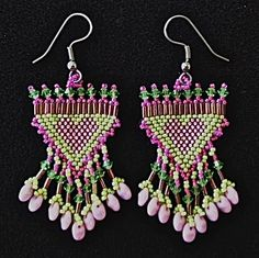 Brick Stitch  Love Is In The Air Earrings w/ Julia Hecht,1 x 2
