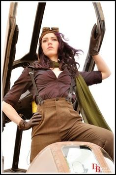 Dieselpunk: Roxana Hire costume. Not a lot of accessories and gadgets, just a solid, simple costume