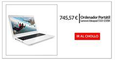 ¡PRECIO MÍNIMO! Lenovo Ideapad 510 con 12GB de RAM por 745,57€ ¡Ahorra 250€!  ¿Buscas portátil barato? Consigue aquí elLenovo Ideapad 510-15ISK Si tienes que renovar tu viejo portátil porque con el paso de los años ya no funciona igual, o simplemente ya no funciona, y quieres comprar uno excelente calidad sin que te cueste mucho dinero no dejes escapar este chollo de...
