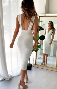 Maternity Clothes Discover An Affair to Remember Midi Dress White white sexy dress Elegant Dresses, Sexy Dresses, Cute Dresses, Beautiful Dresses, Short Dresses, Fashion Dresses, Prom Dresses, Midi Dresses, Casual Dresses
