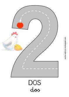 Números carreteras para grafomotricidad aventuradiminuta Numbers For Kids, Numbers Preschool, Learning Numbers, Math Numbers, Letters And Numbers, Kindergarten Math Activities, Educational Activities, Teaching Math, Preschool Activities