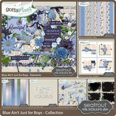 Blue Ain't Just for Boys Collection :: Bundles :: Kits :: Gotta Pixel Digital Scrapbook Store by Seatrout Scraps