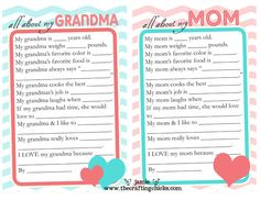 Mothers day free printable