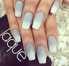grey and white ombre nails - Google Search