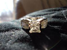 Radiant & Platinum Engagement Ring Radiant Engagement Rings, Platinum Engagement Rings, Wedding Rings, Stone, My Style, Diamond, Pretty, Beauty, Jewelry