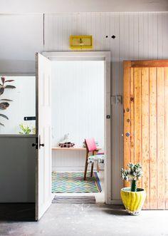 Front door.  // pop & scott workshop via the design files by sean fennessy