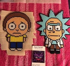 Pocket Rick and Pocket Morty by perlerplayland #rick_and_morty