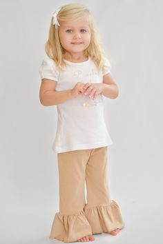 Ellie Ruffle Pants - Kinda Like Khaki