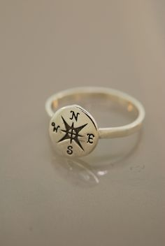 Compass Ring. $38.00, via Etsy.