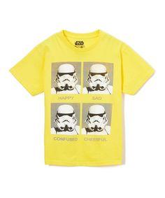 Yellow Warhol Stormtrooper Tee - Boys