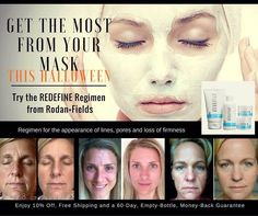 Looking for a beautiful Halloween mask? Step 1 of the REDEFINE Regimen is pure pleasure for your skin...message me for information.