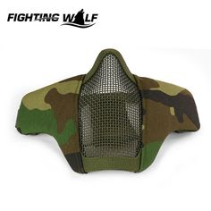 Tactical Military Metal Wire Half Face Mask Mesh Airsoft CS Field Wargame Mask Breathable Lightweight Paintball CS Equipment