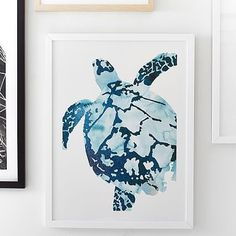 Tropical Sea Turtle Wall Art by Minted® #pbteen
