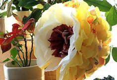 Papierowe kwiaty, paper flowers, DIY, craft