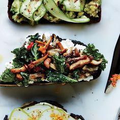 How To Cook Mushrooms, Roasted Mushrooms, Stuffed Mushrooms, Stuffed Peppers, Wild Mushrooms, Kale Recipes, Mushroom Recipes, Cooking Recipes, Healthy Recipes