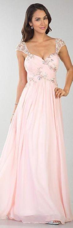 Cute sleeveless pink a-line sweetheart evening dress! <3