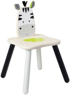 Zebra Chair by Smart Gear - Toys. $41.94. Encourages social skills. Packaging is made from at least 70% recycled paper. Utilizing solid pieces of wood. Cute animal safari theme. High quality. From the Manufacturer                Zebra chair is part of the new range of safari themed furniture by Wonderworld. The zebra chair is beautifully designed and well crafted using a solid piece of wood for both the chair seat and back, not mdf. The zebra chair has black and white legs...