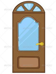 Brilliant Cartoon Home Door House Illustration Cartoon And Shape Inspirational Interior Design Netriciaus