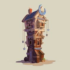 ArtStation - Moon House, Juliano Yi