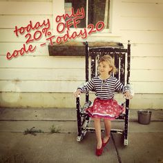Today (May 31st 2013) We are offering 20% off our site sales. Go to www.stellaindustries.com and use code Today20. Good only today. #stellaindustries #sale #kidsfashion
