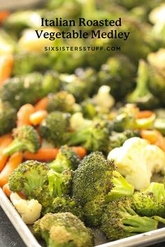 Italian Vegetables, Baked Vegetables, Veggies, Seasoning For Roasted Vegetables, Roasted Mixed Vegetables, Vegetable Sides, Vegetable Recipes, Vegetable Medly Recipe, Veggie Medley Recipes
