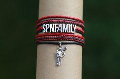 Custom made. SPN Family bracelet (Supernatural)   knotted bracelet - flat knot (cobra knot), braid (three strands)