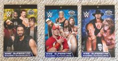Lot of 3 Brand New WWE Superstar Sticker Books. Some of the Superstars include Cena, Ultimate Warrior, Undertaker, Stone Cold Steve Austin, Rock, etc. Each sticker book contains 200 + Stickers.
