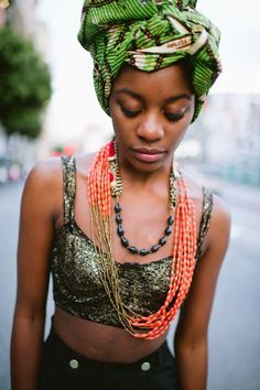Natural Hair, Fitness, Inspiration, Food : [Head wrap] My head wrap obsession continues......