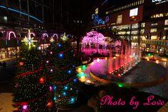 東京ドーム イルミネーション クリスマスツリーが切れててちょっと失敗作な写真でした。 でもこれが一番ましでしたw by 愛花姫20