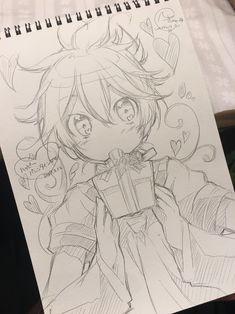 Que lindo dibujos en 2019 anime art, anime sketch y manga art. Anime Drawings Sketches, Anime Sketch, Kawaii Drawings, Manga Drawing, Manga Art, Cute Drawings, Anime Kawaii, Anime Chibi, Manga Anime