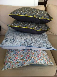 Coussins en Liberty - Liberty fabric cushions