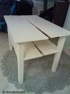 Halkaistu pöytä - Side table - Half table - DIY - Kopallinen inspiraatiota