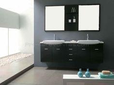 Baker espresso vanity w/ white counter 71 Wall Mounted Bathroom Cabinets, Wall Mounted Vanity, Bathroom Fixtures, James Martin, Best Bathroom Vanities, Modern Bathroom, Single Vanities, Modern Wall, Espresso