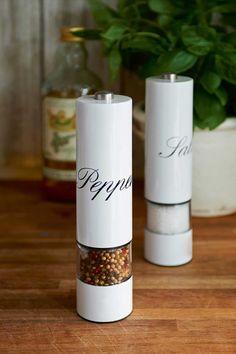 Rivièra Maison RM Pepper Mill Electric - Peper- en zoutstel - Wit