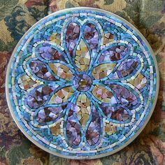 Art Glass Mosaic - Mandala Tapestry not grouted, nor backlit by ArtGlassMosaics