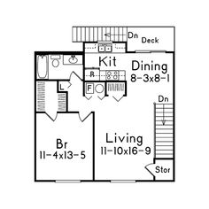 Apartment floor plans square feet and apartments on pinterest for One level garage plans with living quarters