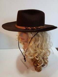 3d0fdc7f6b6 Details about Stallion By Stetson XX Premium Wool 7 3 8 Brown Cowboy Hat  made in Texas USA VTG