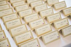 Champagne and Gold Traditional Seating Cards with Black Calligraphy Text   Tampa Wedding Photographer Marc Edwards Photographs