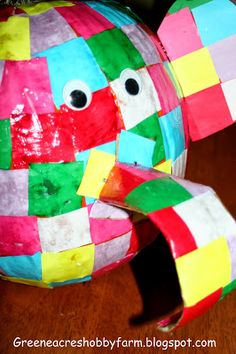 Elmer the Elephant pumpkin