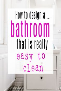 Simple design and decor tips to help you create an easy clean bathroom. Cleaning hacks to help you get a beautiful bathroopm you will adore.   #bathroom #cleaning #abeautifulspace Deep Cleaning, Cleaning Hacks, Beautiful Space, Beautiful Homes, Cleaning Bathroom Tiles, Clean Bedroom, Small Tiles, Shower Panels, Wet Rooms