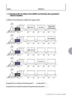 8 pages d'exercices pour faire le bilan des compétences de CE1 en numération. Math Worksheets, Assessment, Sheet Music, School, Balance Sheet, Learning, Exercises, Business Valuation, Music Sheets