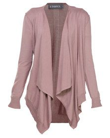 Utopia Cotton Open Shrug Cardigan Pink