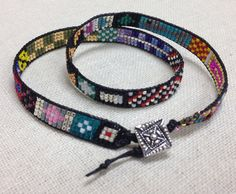 Dawn Ferguson's Double Wrap Bracelet! GREAT experimenting with PATTERNS!