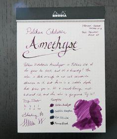 Pelikan Edelstein Amethyst Ink Review � I just love the Edelstein inks of Pelikan