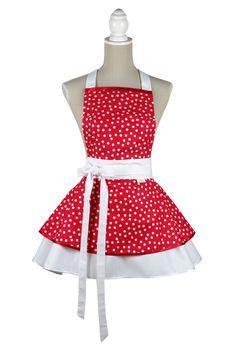 Zástera Retro small dots  #zastera #apron #kuchynskazastera #retro #dotsapron #dots #pinup #kitchen #madeinslovakia #kuchyna #cukraren #pecenie